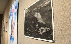 Art by Ellie Raetzman, a FGHS Student. (Image via Forest Grove News Times; Photo Credit: Gabby Urenda)